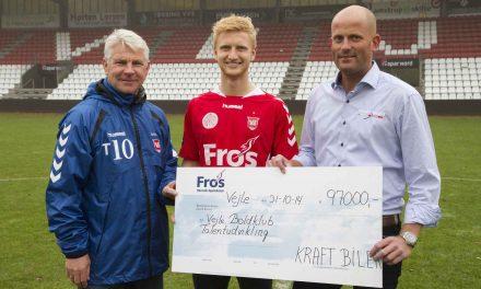 Arrangment hos KRAFT BILER udløste 97.000 kroner til VB's talentudvikling