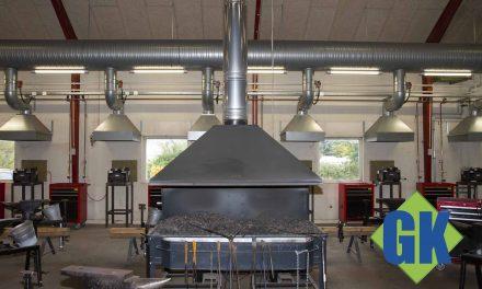 Ventilationsanlæg monteret på smedeværksted i Kolding