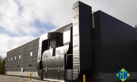 GK Danmark monterer procesudsugning og ventilationsanlæg i Polyprints nye produktionshal