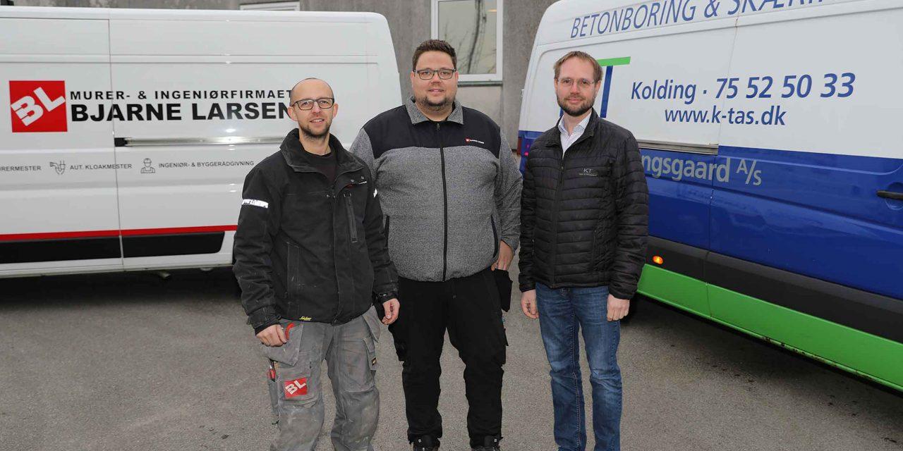 Murer- & Ingeniørfirmaet Bjarne Larsen ApS opkøber bore- og skæreafdeling i K & T Entreprise A/S og åbner ny afdeling i Kolding
