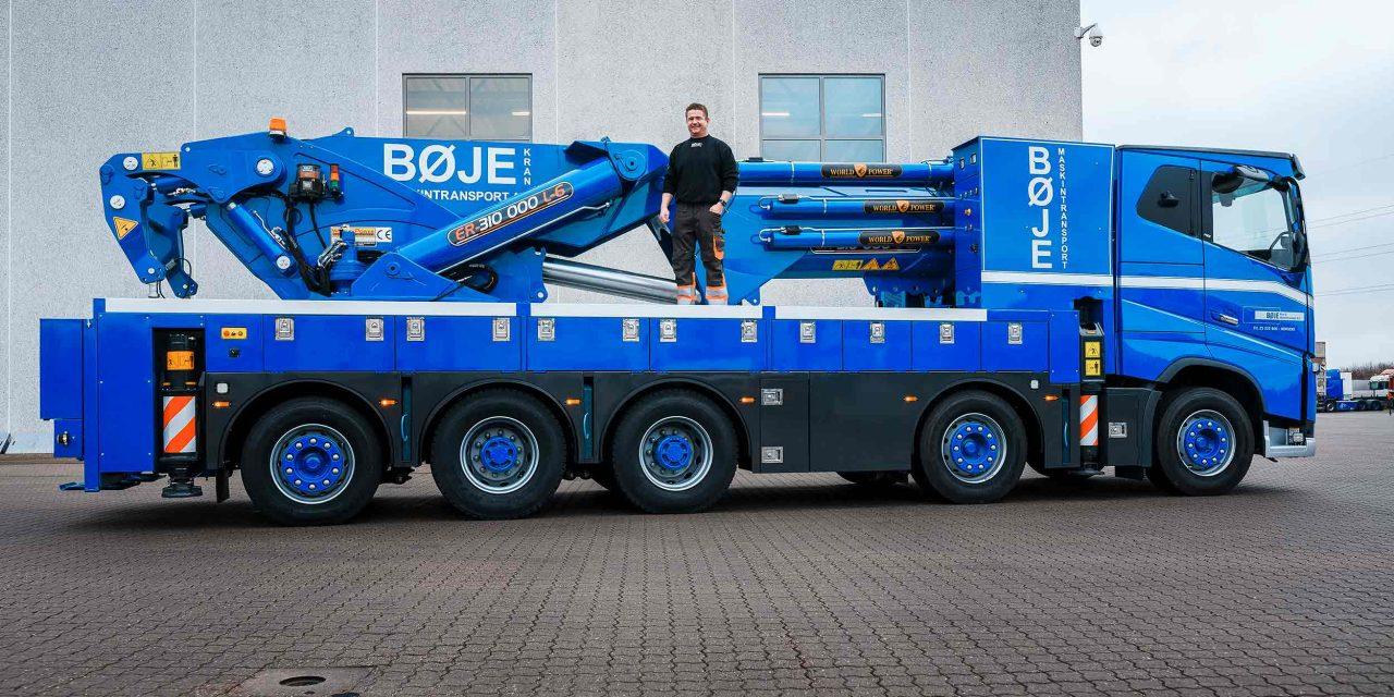Bøje Kran & Maskintransport A/S opruster med Horsens' største lastbilkran